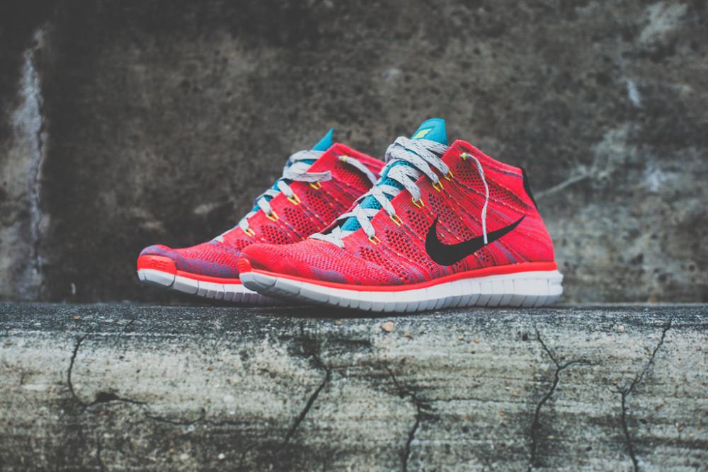 Nike Free Flyknit Chukka Bright Crimson 1 1000x667