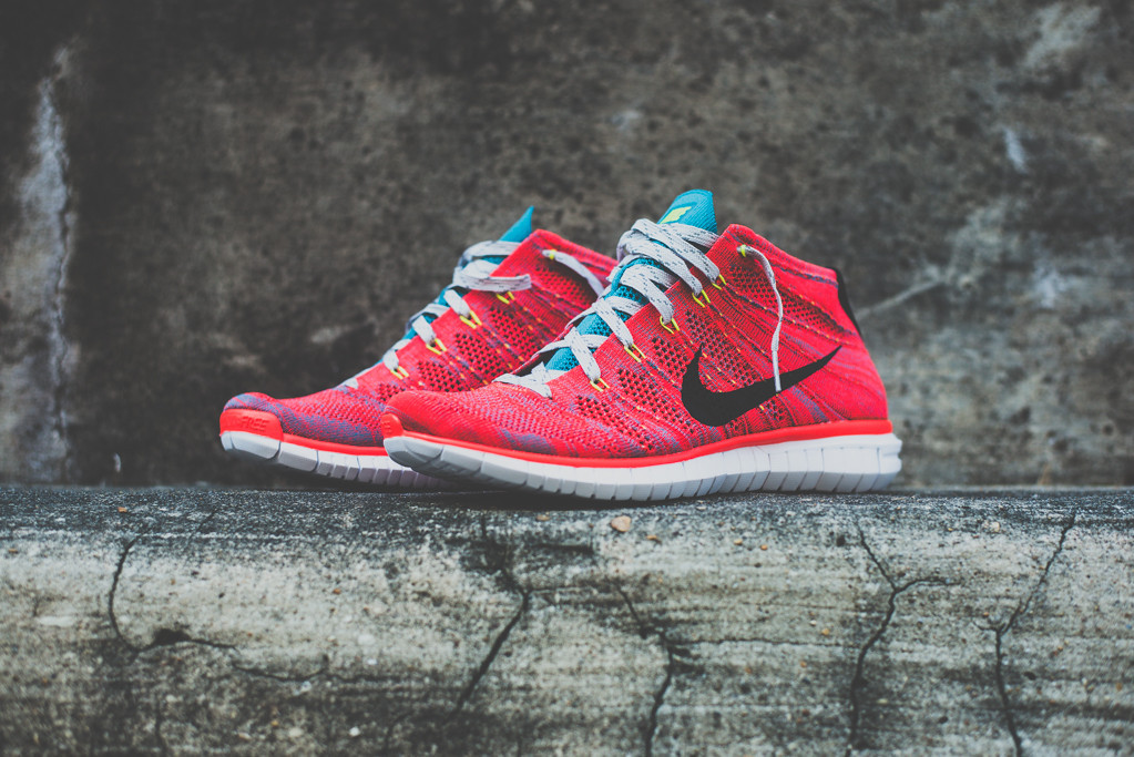 Nike Free Flyknit Chukka Bright Crimson 1