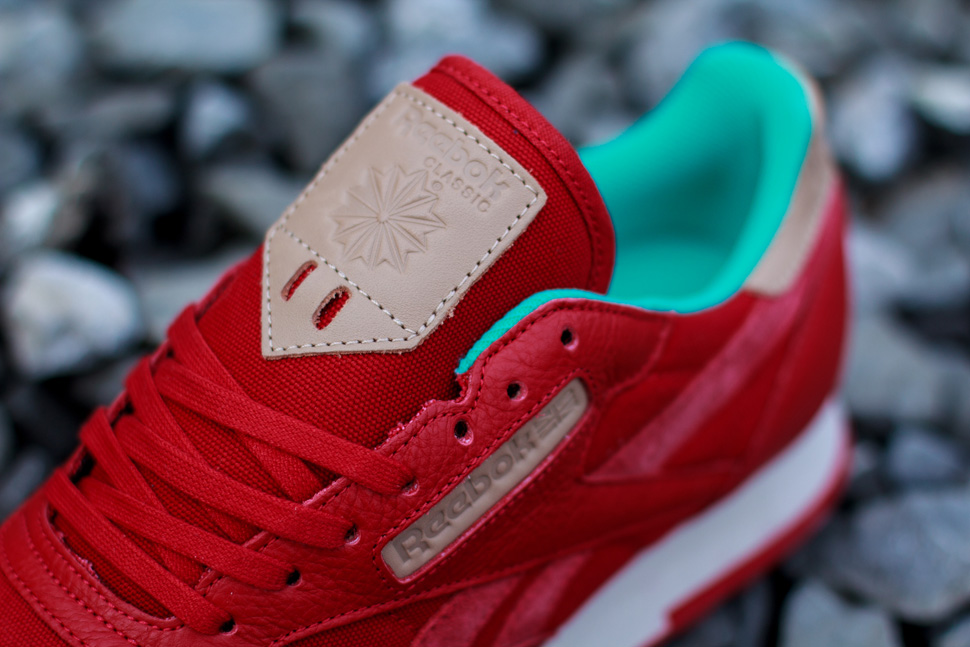 Reebok CL Leather Utility Red Teal 2