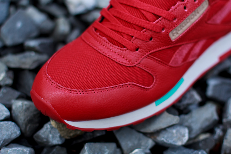 Reebok CL Leather Utility Red Teal 3