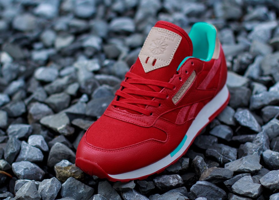 Reebok CL Leather Utility Red Teal 4