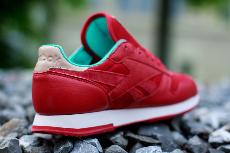 Reebok CL Leather Utility Red Teal 5