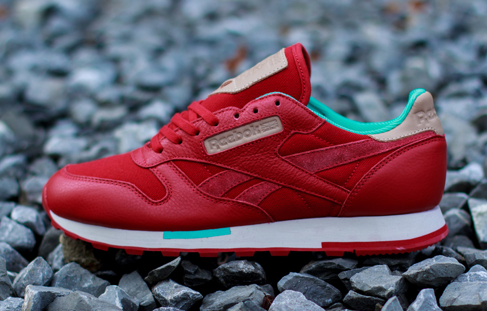 Reebok CL Leather Utility Red Teal 6