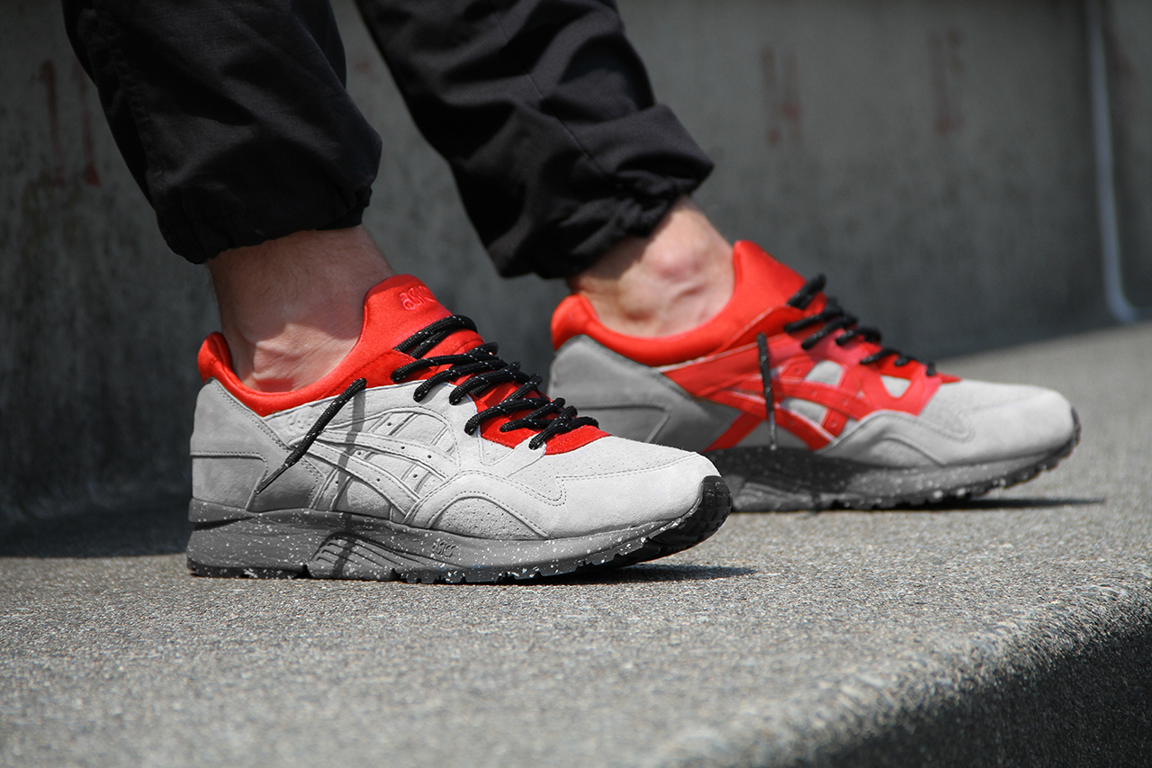 Concepts x ASICS Gel Lyte V Grey Red 2
