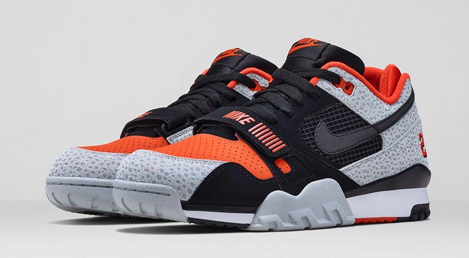 Nike Air Trainer 2 Premium Black Orange 1