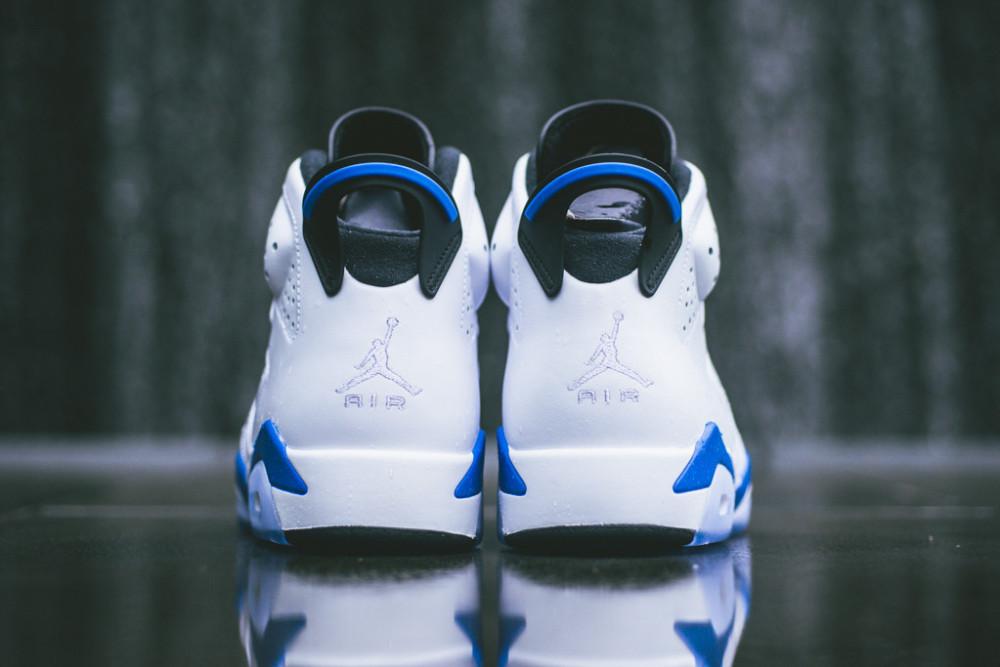 Air Jordan 6 Retro White Sport Blue 4 1000x667