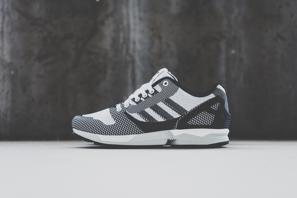 adidas ZX FLUX WEAVE White Black 1