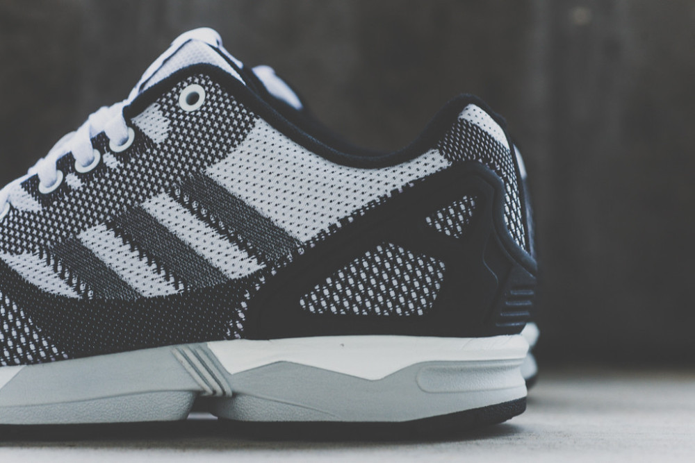 adidas ZX FLUX WEAVE White Black 5 1000x667