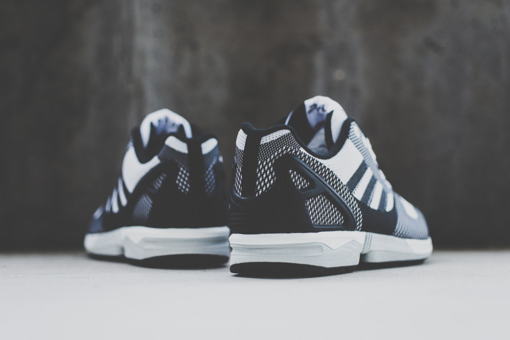adidas ZX FLUX WEAVE White Black 6 1000x667