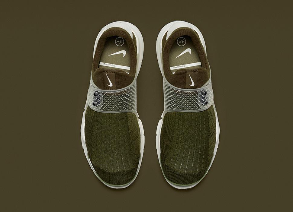 fragment design x Nike Sock Dart Khaki 2