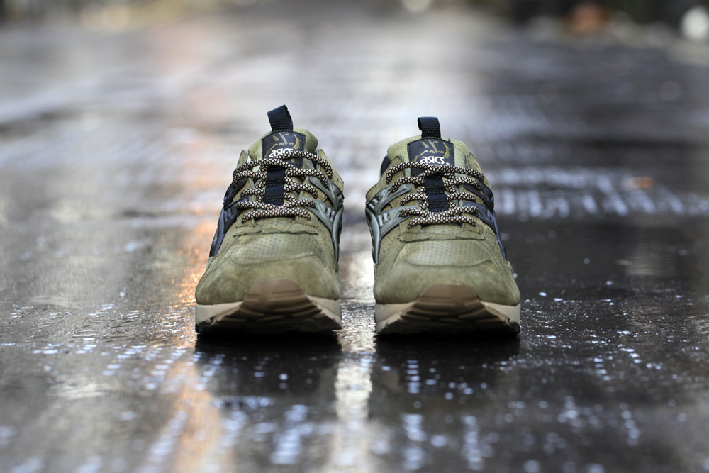 Footpatrol x ASICS GEL Kayano Trainer Dark Olive 2