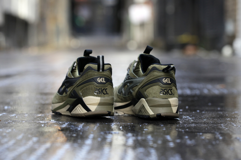 Footpatrol x ASICS GEL Kayano Trainer Dark Olive 4
