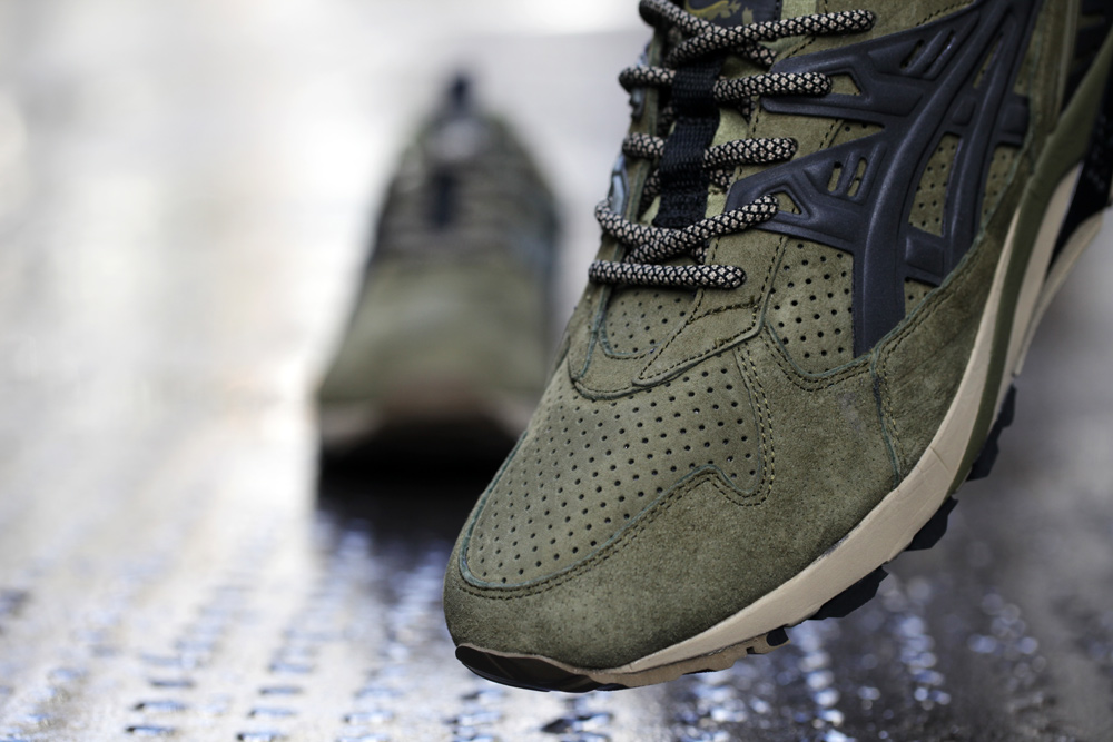 Footpatrol x ASICS GEL Kayano Trainer Dark Olive 5