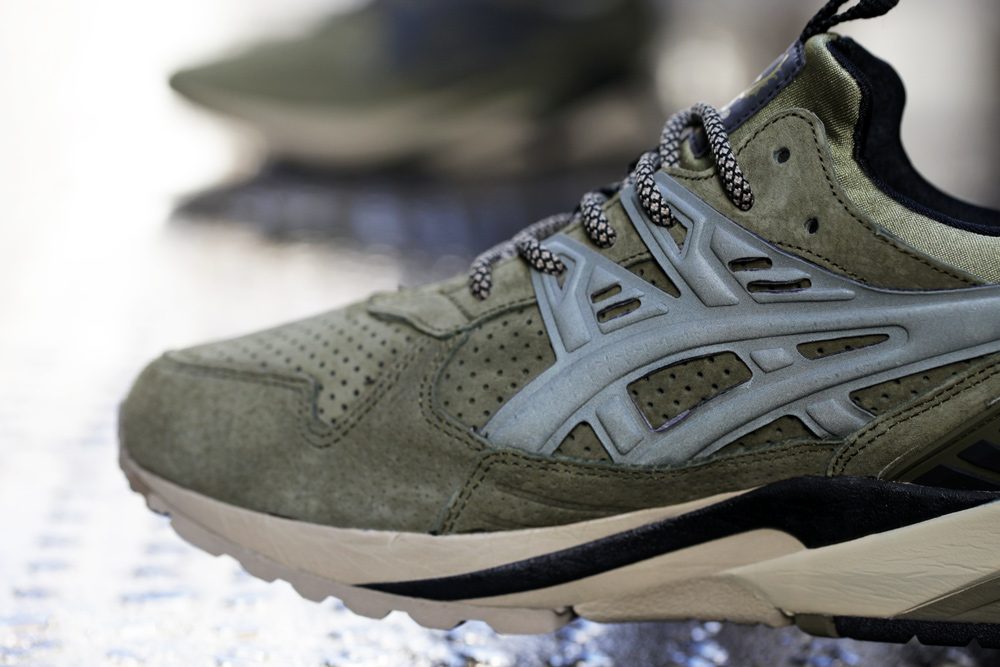 Footpatrol x ASICS GEL Kayano Trainer Dark Olive 6