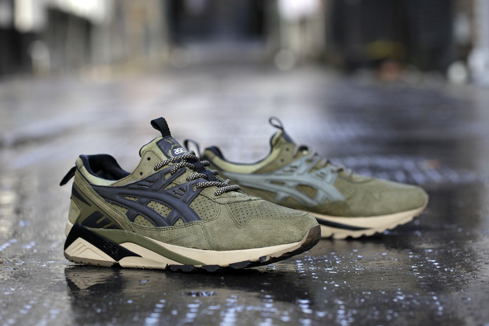 Footpatrol x ASICS GEL Kayano Trainer Dark Olive 7