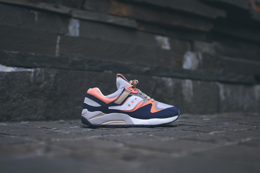 KITH x Saucony Grid 9000 Navy Coral 2 1000x664