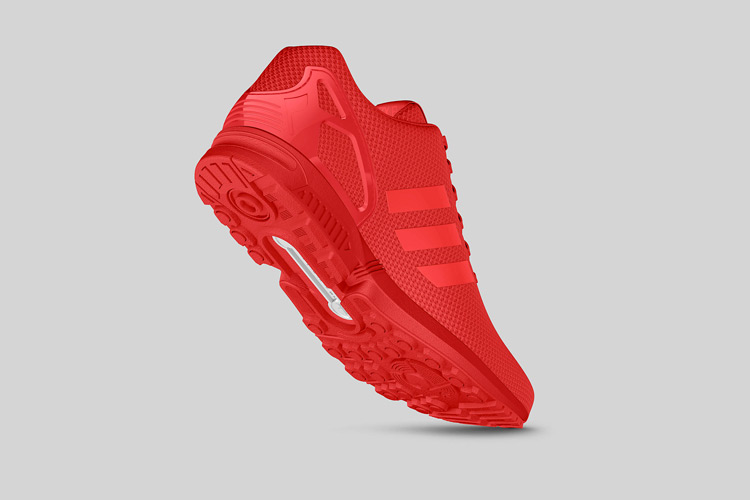 adidas Originals ZX FLUX All Red 5