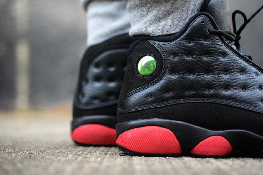 Air Jordan 13 Retro Black Gym Red 7 1000x667