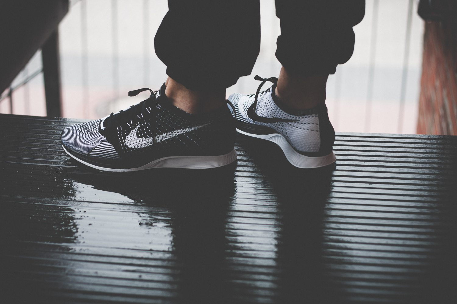 Nike Flyknit Racer Black White Review 14