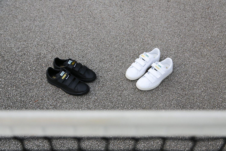 PUMA Court Star Velcro Black White 1