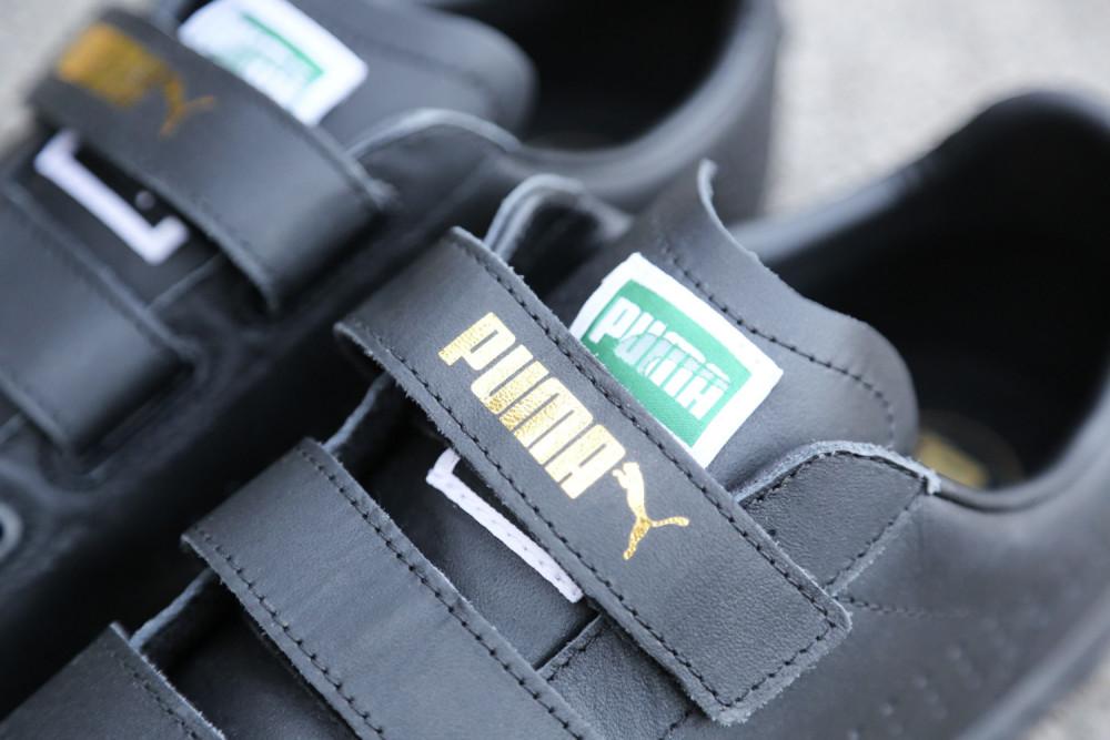 PUMA Court Star Velcro Black White 5 1000x667