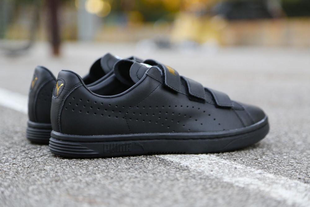 PUMA Court Star Velcro Black White 6 1000x667