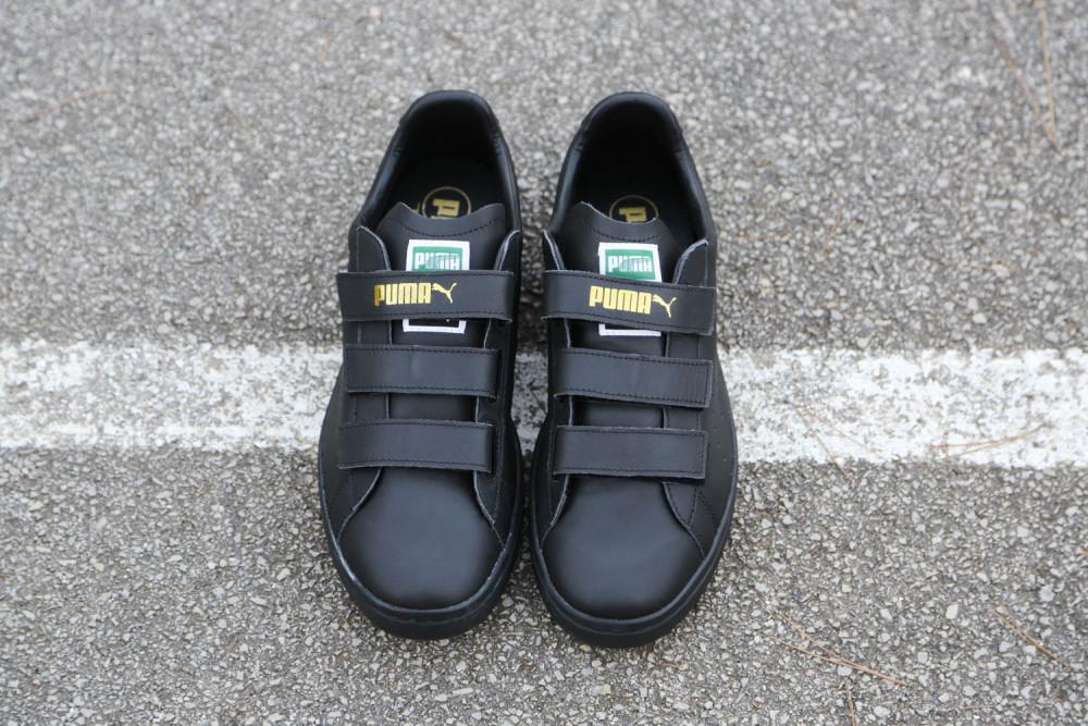 PUMA Court Star Velcro Black White 7 1000x667
