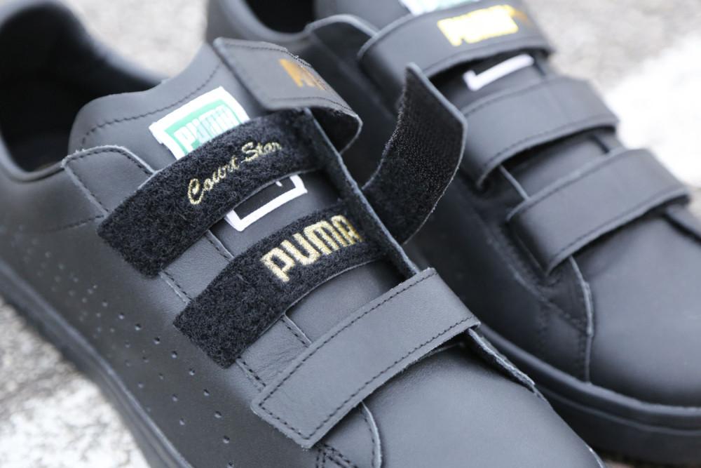 PUMA Court Star Velcro Black White 8 1000x667
