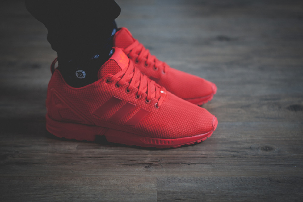adidas Originals ZX FLUX All Red Review 1 1000x667