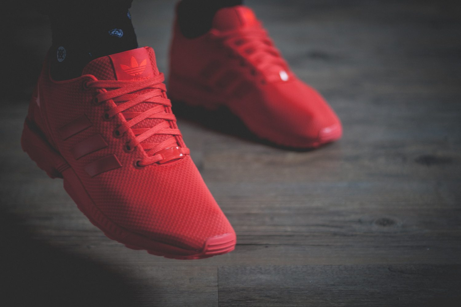 huge discount 2c08e 68c80 adidas originals zx flux red