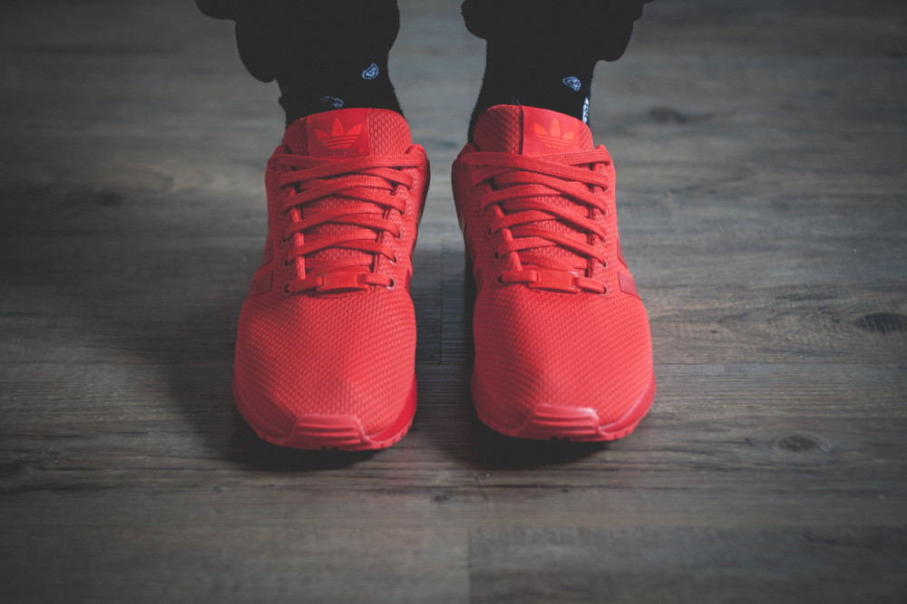 adidas Originals ZX FLUX All Red Review 3 1000x667