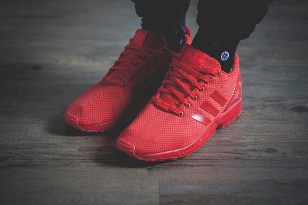 adidas Originals ZX FLUX All Red Review 4 1000x667