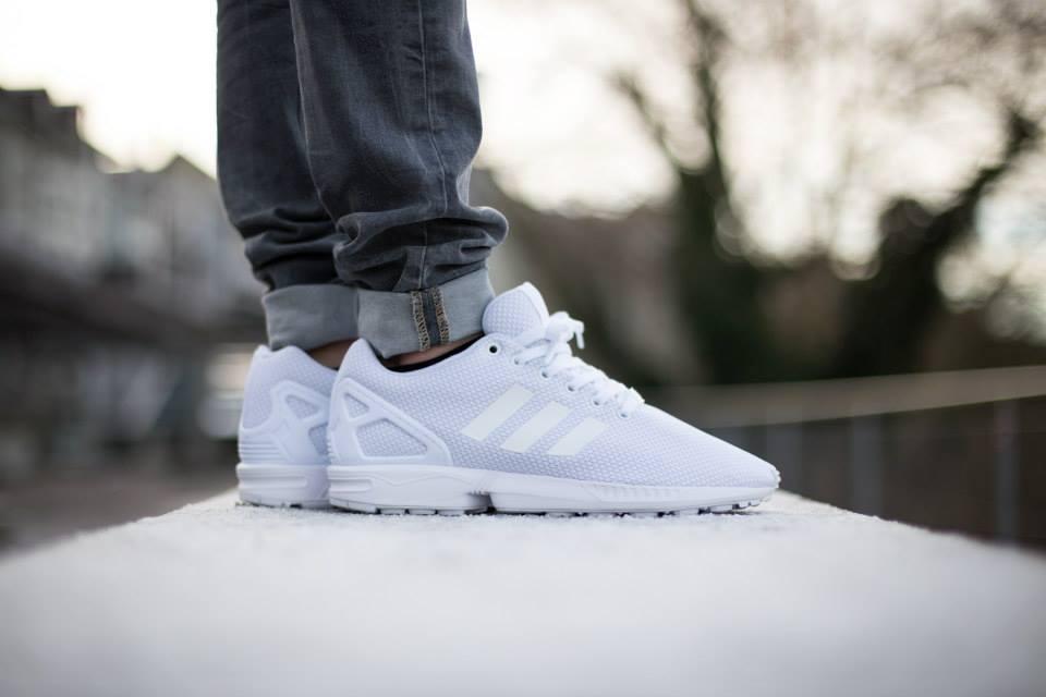 adidas Originals ZX FLUX All White 1