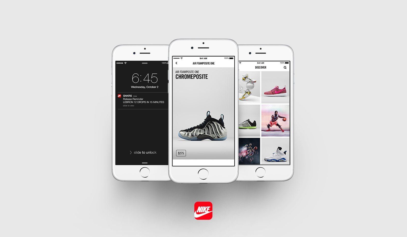 Nike SNKRS Sneaker App 1