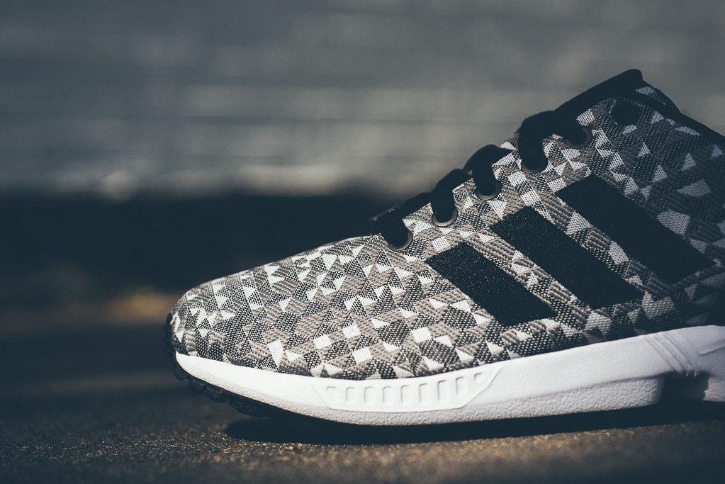 adidas Originals ZX FLUX Weave Grey Black 4
