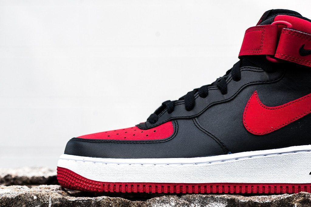 Nike Air Force 1 Mid 07 Black Red 2