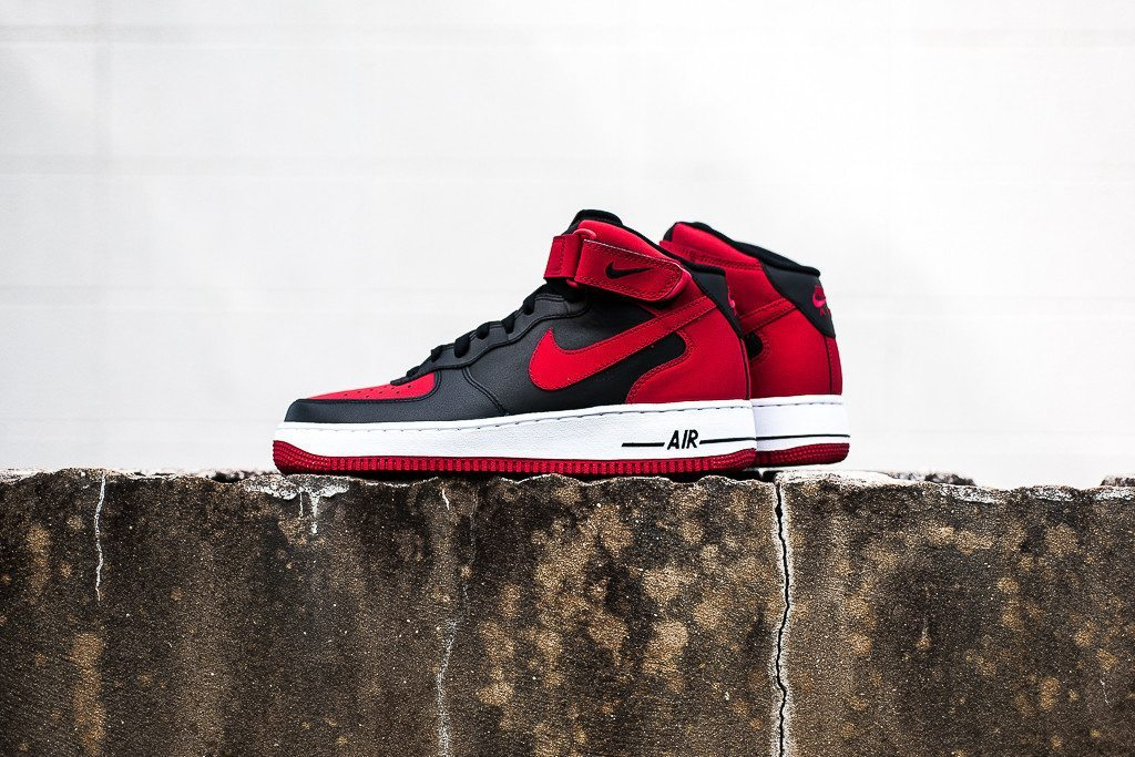 Nike Air Force 1 Mid 07 Black Red 6
