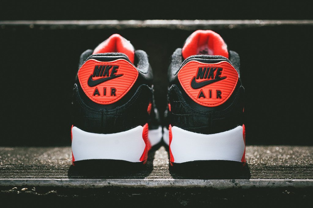 Nike Air Max 90 Anniversary Infrared Croc 3