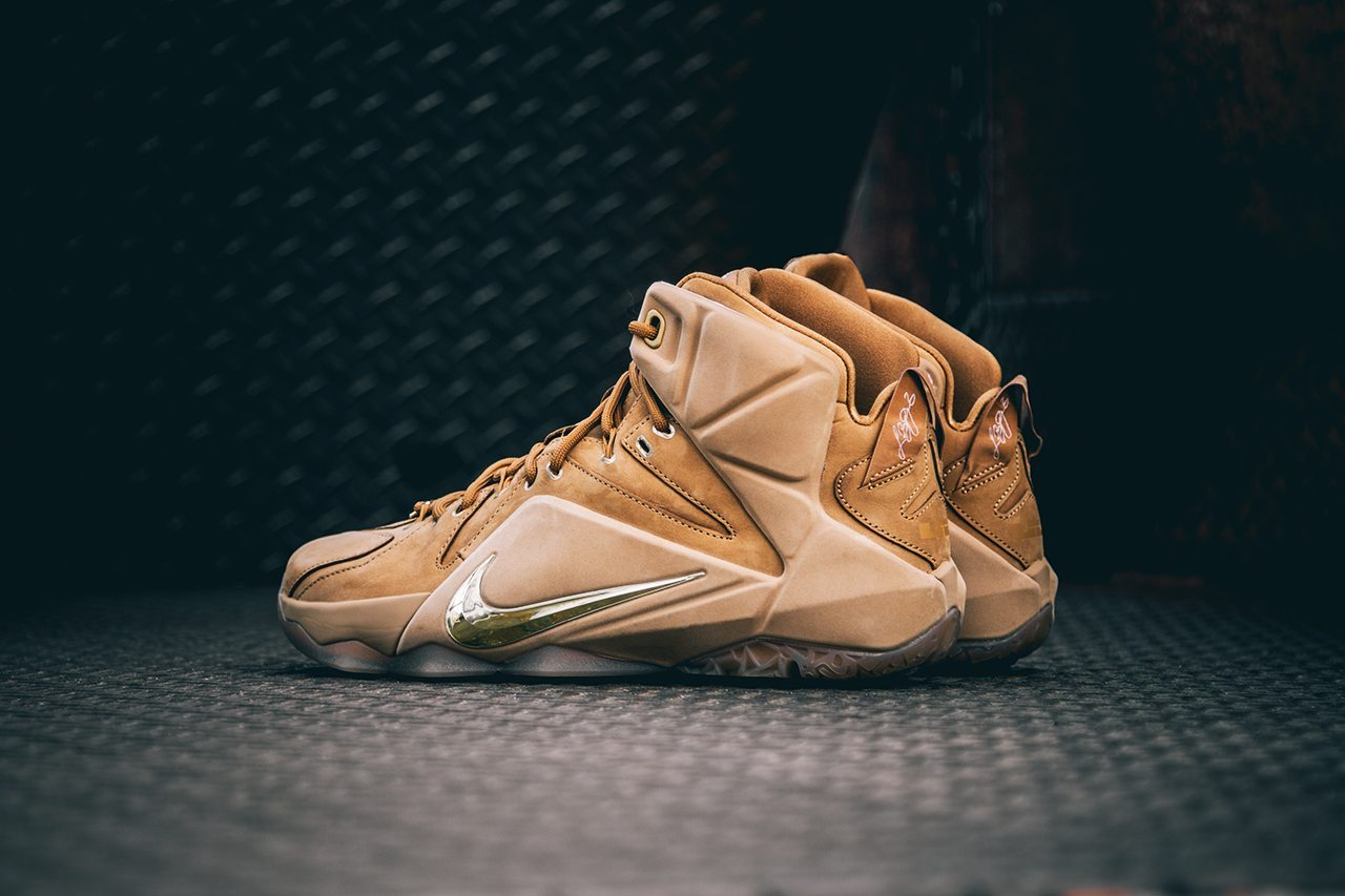 Nike Lebron XII EXT Wheat 3