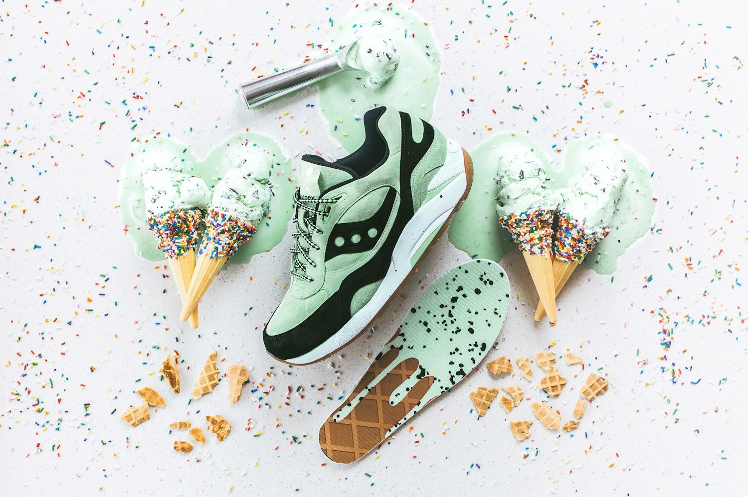 Saucony Originals G9 Shadow 6 Scoops Pack Mint Chocolate Chip