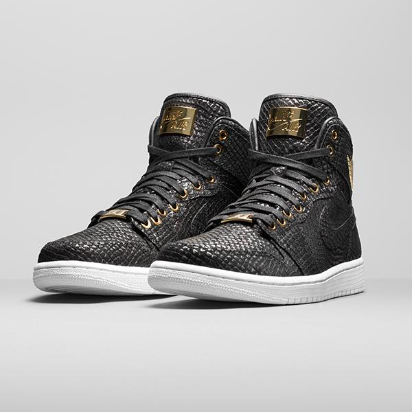 Air Jordan 1 Pinnacle Black Metallic Gold