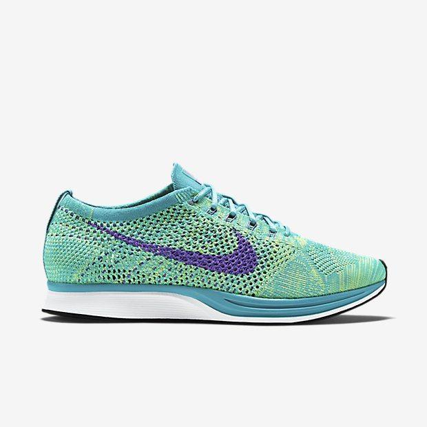 Nike Flyknit Racer Sport Turquoise Volt Grape