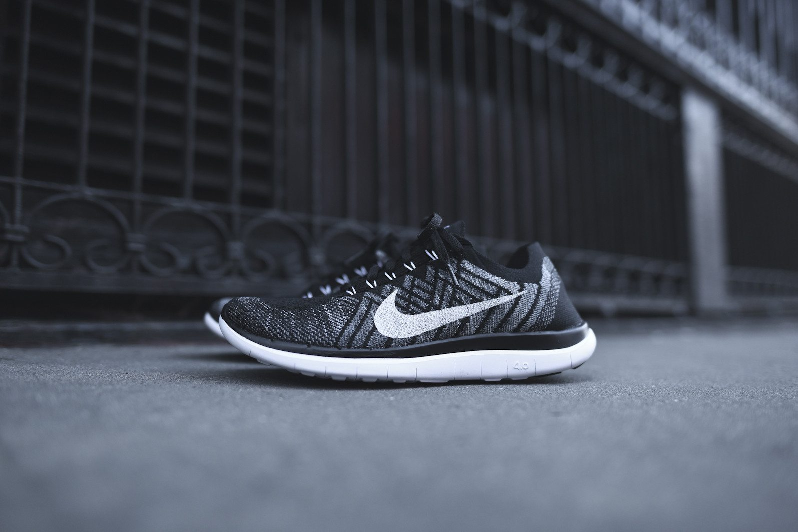 Nike Free 4.0 Flyknit Black Wolf Grey 1