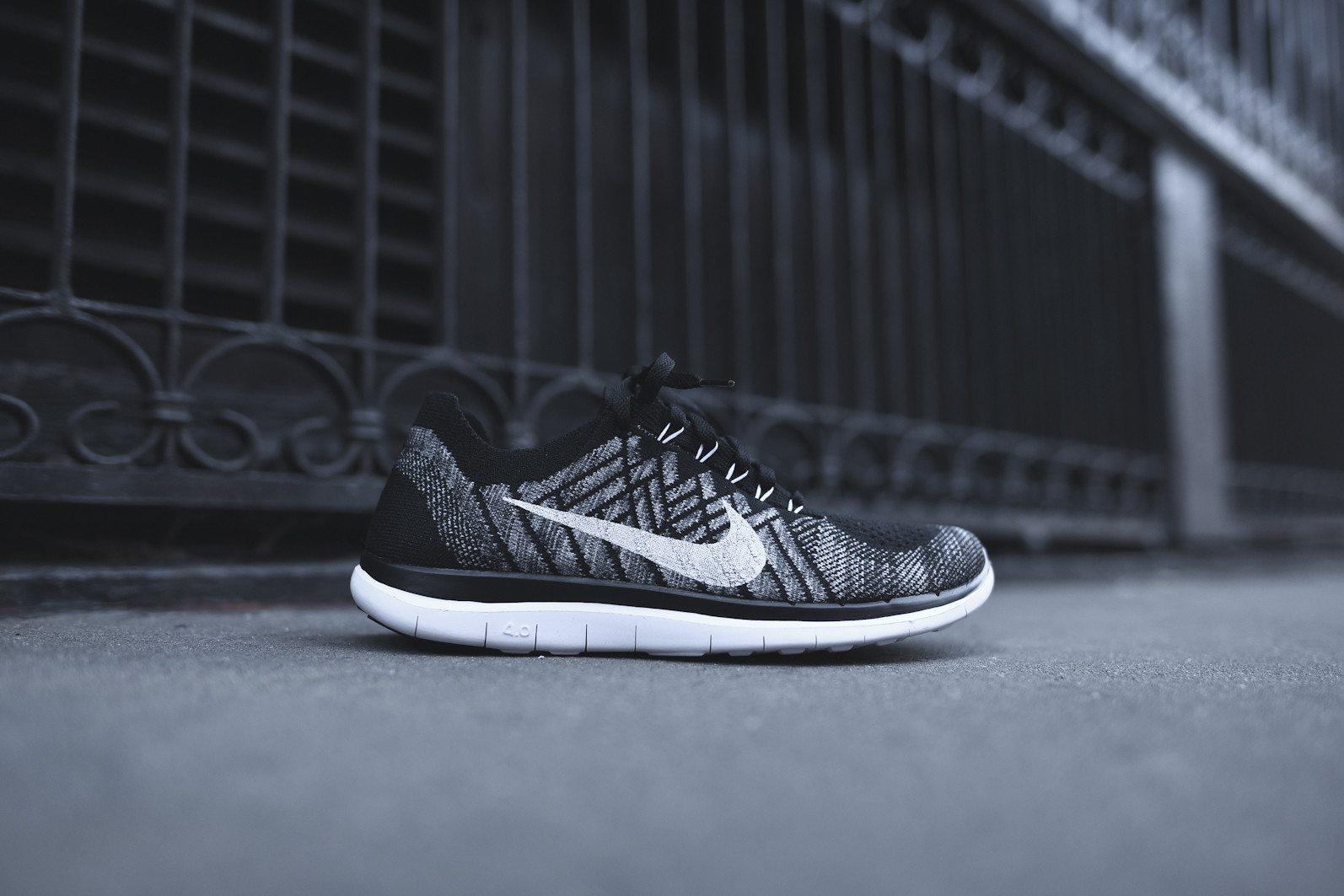 Nike Free 4.0 Flyknit Black Wolf Grey 2
