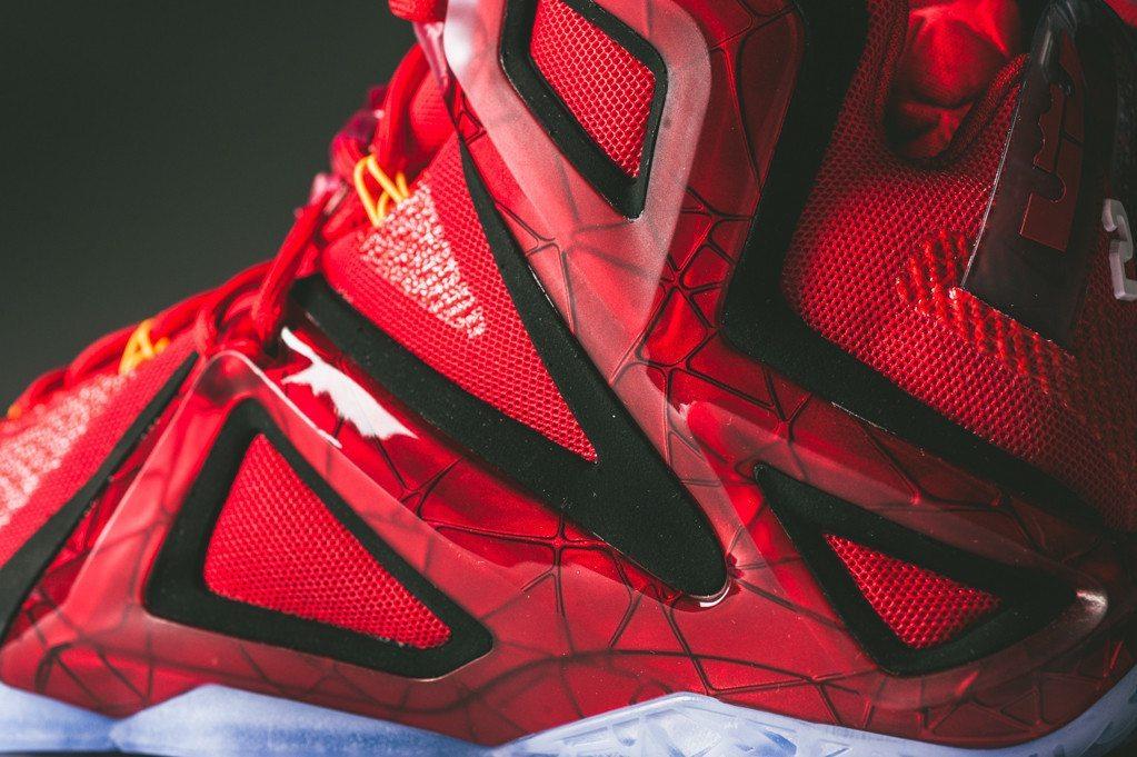 Nike LeBron 12 Elite University Red 3