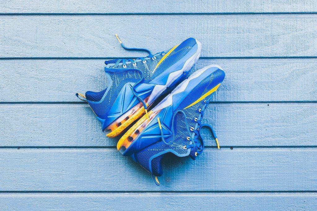Nike Lebron 12 Low Photo Blue Uni Gold 1