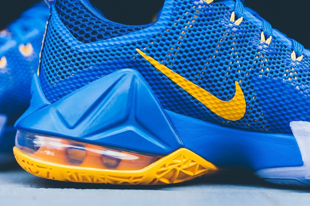 Nike Lebron 12 Low Photo Blue Uni Gold 4