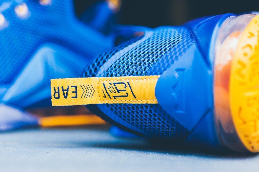 Nike Lebron 12 Low Photo Blue Uni Gold 5