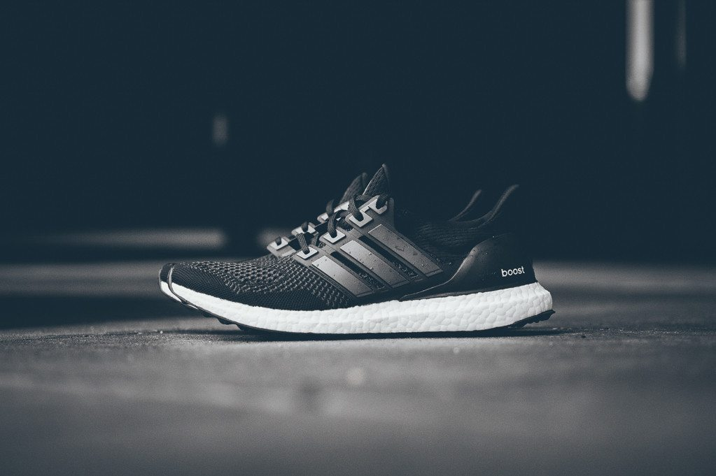 adidas Ultra Boost Black White 1