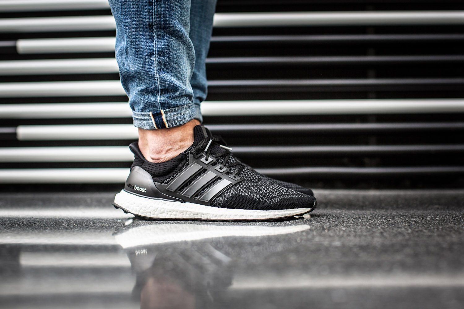 adidas Ultra BOOST Black White 10